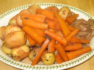Yummy wine-steeped vegetables!