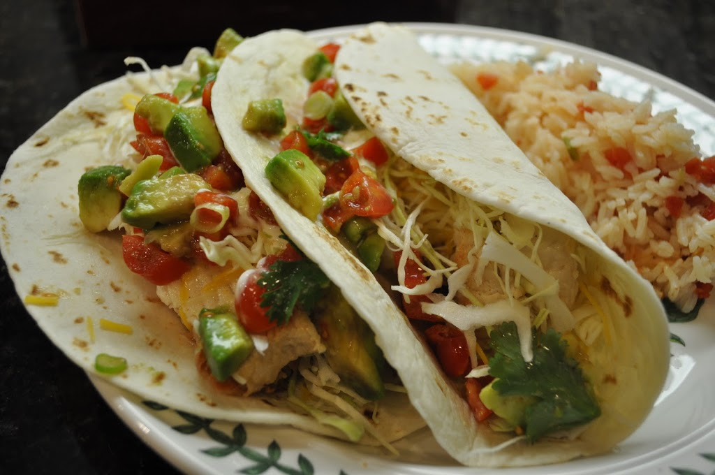 Fresh Mako Shark Tacos, Refried Beans, Mexican Rice, Avocado Salsa, and Oatmeal Cookies - Create ...