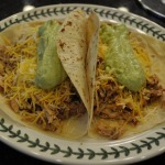 Crock-Pot Shredded Chicken Burritos, Quick Refried Beans, and Avocado Cream