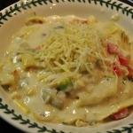Cheese and Spinach Ravioli with Lemony Crab and Artichoke Cream Sauce