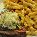Organic Top Sirloin topped with Crab, Roasted Tomato and Smoked Mozzarella Pasta ~ adapted from French Fridays with Dorie ~ and David Lebovitz's Super Lemon Ice Cream