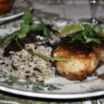 Paso Robles Chicken with Wild Rice and Baked Acorn Squash