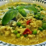 English Pea and Pesto Risotto