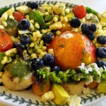 Warm Scallop Salad with Corn, Nectarines, and Basil ~ French Fridays with Dorie