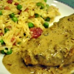 Dorie's Chicken Breasts Diable with Giada's Creamy Orzo ~ French Fridays with Dorie