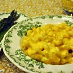 Shrimp & Lobster Macaroni and Cheese with Roasted Asparagus