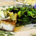 Blue Fin with Frilly Herb Salad ~ French Fridays with Dorie