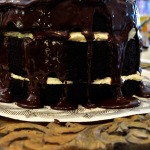 Baked Sunday Mornings: Mile-High Chocolate Cake With Vanilla Buttercream