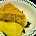 Nielsen-Massey Extracts:  Lemon Buttermilk Cake with Riesling-Poached Pears