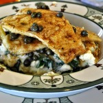 French Fridays with Dorie: Sole with Capers and Brown Butter Sauce over Spinach Garlic Mashed Potatoes