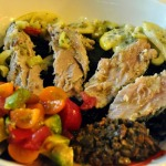 French Fridays with Dorie: Tuna Confit with Black Olive Tapenade and Tomato Salsa