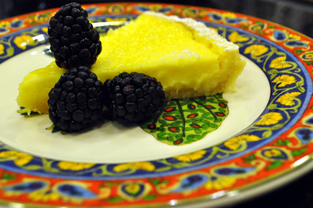 Lemon Tart with Blackberries