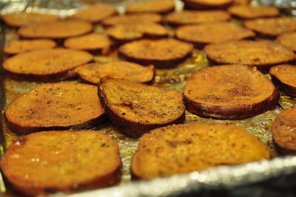 Cinnamon and Honey Roasted Sweet Potatoes