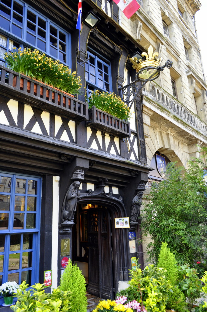 La Couronne in Rouen - where the first bite Sole Meuniere changed Julia Child's life