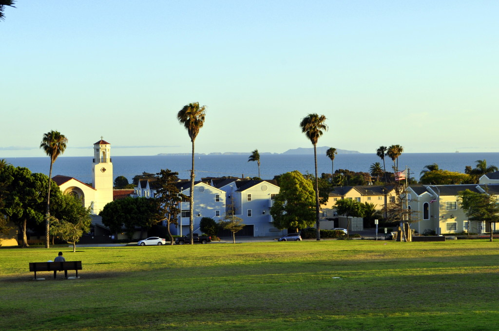 It was a beautiful summer evening in Ventura!  Anacapa Island from Cemetery Park.